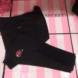 💖 Size L ⚜️VS PINK Collegiate Capri Pants Workout
